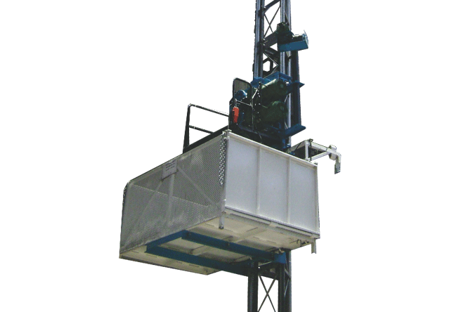 Rack and Pinion Material Hoist